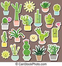 cactus baby stickers