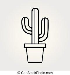 Cactus cartoon illustration