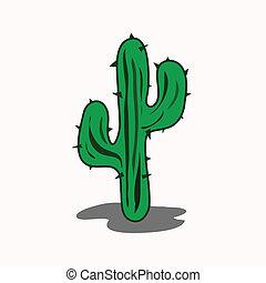 cactus, dessin animé