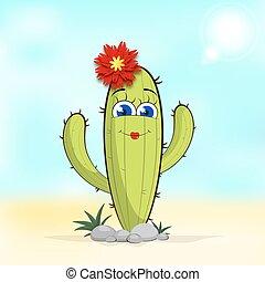 Cactus flower Illustration