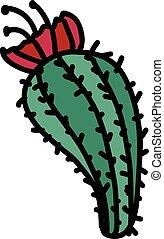 Cactus hand drawn icon