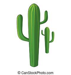 Cactus icon, cartoon style