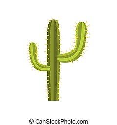 Cactus icon, flat style