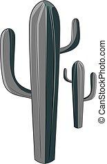 Cactus icon monochrome