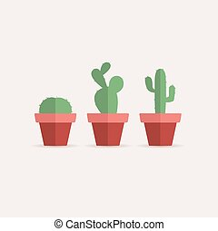 Cactus in a flower pot