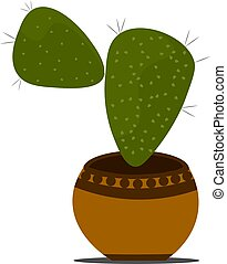 Cactus in the pot vector illustration