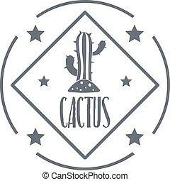 Cactus logo, vintage style