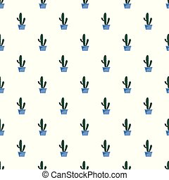 Cactus pattern seamless vector