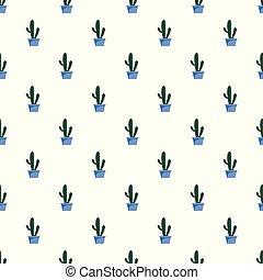 Cactus pattern seamless vector