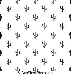 Cactus pattern vector