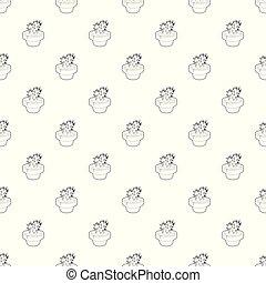 Cactus pattern vector seamless