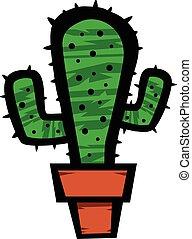 Cactus plant cartoon vector illustr