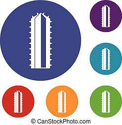 Cactus plant icons set