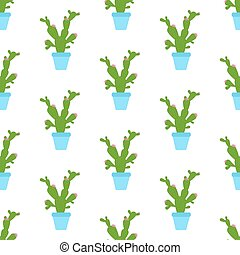 Cactus plant seamless pattern