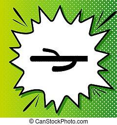 Cactus simple sign. Black Icon on white popart Splash at ...
