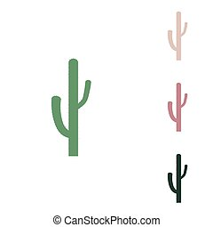 Cactus simple sign. Russian green icon with small jungle ...