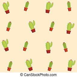 Cactus succulent plants pots background