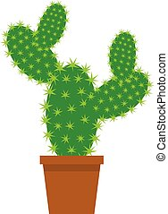 Cactus - vector cactus in a pot