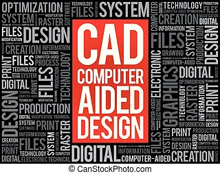 CAD business concept background