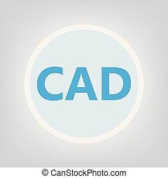CAD (Computer-aided design) acronym- vector illustration