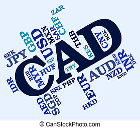 Cad Currency Represents Canadian Dollar And Canada - Cad...