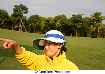 caddie, china, golf
