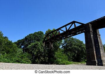 Caddo River Crossing at Glenwood Arkansas - Railroad bridge ...