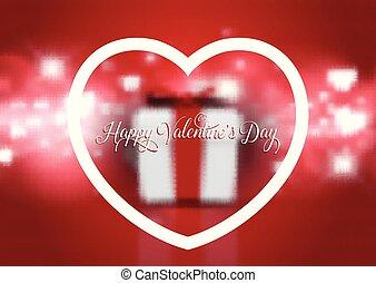 cadeau, 3012, valentines, defocussed, fond, jour