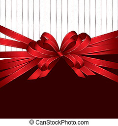 cadeau, achtergrond, boog