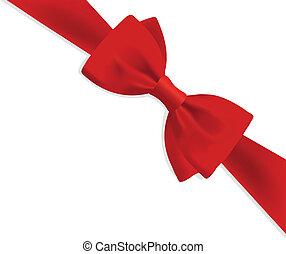 cadeau, arc rouge