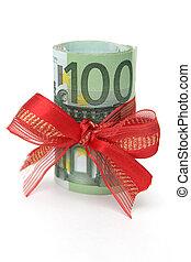 cadeau, argent