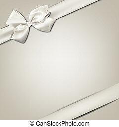 cadeau, bow., witte