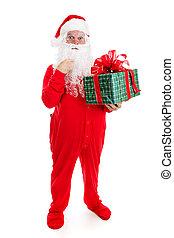 cadeau, claus, kerstman