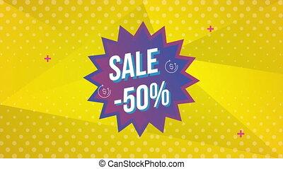 cadeau, etiket, verkoop, kado, commercieel