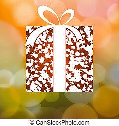 cadeau, feuilles, eps, automne, arrière-plan., 8