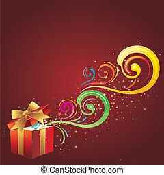 cadeau, fond, célébration