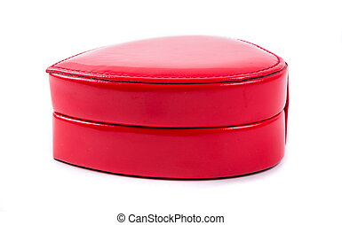 cadeau, hart gedaante, doosje, rood