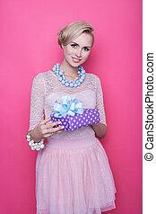 cadeau, kado, vrouwen, kleurrijke