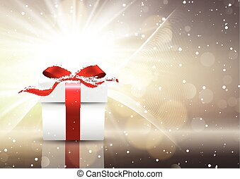 cadeau, noël, fond