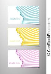 cadeau, séparé, soleil, 3, derrière, cartes, cloud., dissimulation