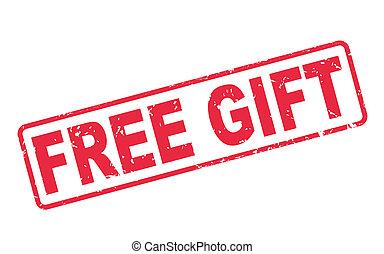 cadeau, timbre, texte, gratuite, blanc rouge