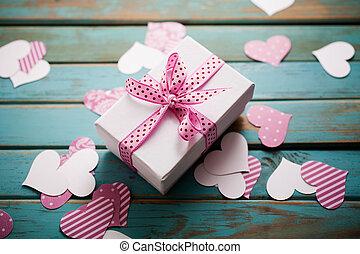 cadeau, valentine´s, jour