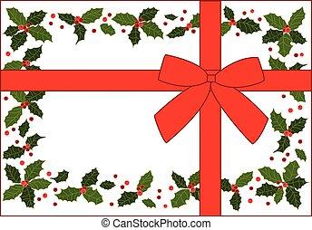 cadeau, vecteur, noël, illustration