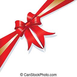 cadeau, vecteur, noël, ruban