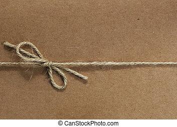cadeia, amarrada, ligado, reciclado, papel