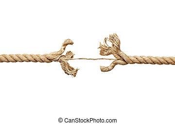 cadeia, danificado, corda, risco