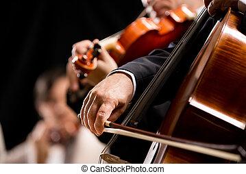 cadeia, orquestra, desempenho