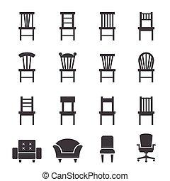 cadeira, ícone
