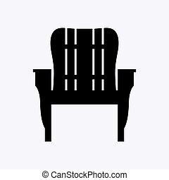 cadeira, ao ar livre, armrests, madeira