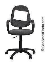 cadeira, com, papel